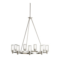 Circolo 9 Light 36 inch Brushed Nickel Chandelier Ceiling Light