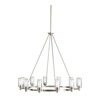 Circolo 12 Light 45 inch Brushed Nickel Chandelier Ceiling Light