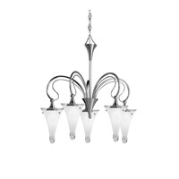 Kichler Lighting Raindrops 5 Light Chandelier in Brushed Nickel 2355NI