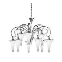 Kichler Lighting Raindrops 9 Light Chandelier in Brushed Nickel 2359NI