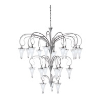 Kichler Lighting Raindrops 21 Light Chandelier in Brushed Nickel 2387NI photo thumbnail