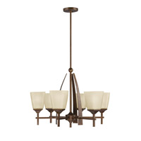 Kichler Lighting Souldern 6 Light Chandelier in Marbled Bronze 2413MBZ