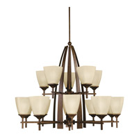 Kichler Lighting Souldern 15 Light Chandelier in Marbled Bronze 2416MBZ photo thumbnail