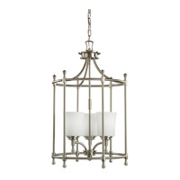 Kichler Lighting Wharton 3 Light Foyer Chain Hung in Brushed Nickel 2518NI