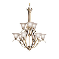 Kichler Lighting Dover 9 Light Chandelier in Antique Brass 2520AB