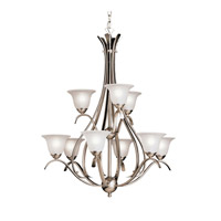Kichler 2520NI Dover 9 Light 28 inch Brushed Nickel Chandelier Ceiling Light