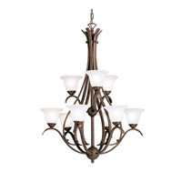 Kichler 2520TZ Dover 9 Light 28 inch Tannery Bronze Chandelier Ceiling Light