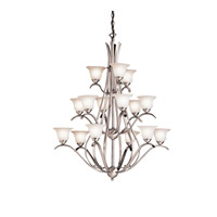 Kichler 2523NI Dover 15 Light 37 inch Brushed Nickel Chandelier Ceiling Light