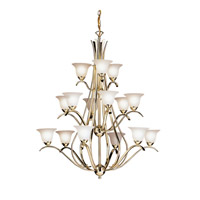 Kichler Lighting Dover 15 Light Chandelier in Polished Brass 2523PB