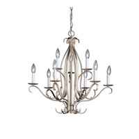 Kichler Lighting Portsmouth 9 Light Chandelier in Brushed Nickel 2534NI