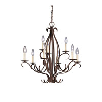 Kichler Lighting Portsmouth 9 Light Chandelier in Tannery Bronze 2534TZ
