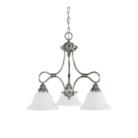 Kichler Lighting Stafford 3 Light Chandelier in Antique Pewter 2556AP