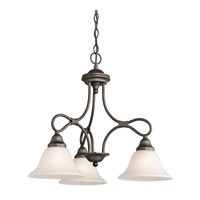Kichler 2556OZ Stafford 3 Light 22 inch Olde Bronze Chandelier Ceiling Light