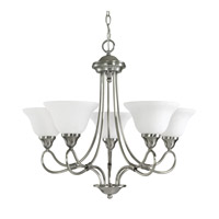Stafford 5 Light 25 inch Antique Pewter Chandelier Ceiling Light