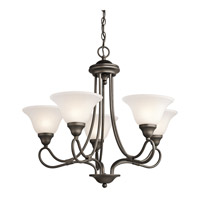 Kichler 2557OZ Stafford 5 Light 26 inch Olde Bronze Chandelier Ceiling Light