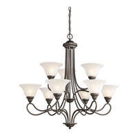 Kichler 2558OZ Stafford 9 Light 33 inch Olde Bronze Chandelier Ceiling Light