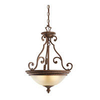 Kichler Lighting Larissa 3 Light Inverted Pendant in Tannery Bronze w/ Gold Accent 2606TZG photo thumbnail