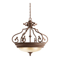 Kichler Lighting Larissa 3 Light Inverted Pendant in Tannery Bronze w/ Gold Accent 2613TZG