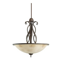 Kichler Lighting High Country 3 Light Inverted Pendant in Old Iron 2671OI