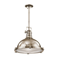 Kichler Hatteras Bay 1 Light Pendant in Polished Nickel 2682PN