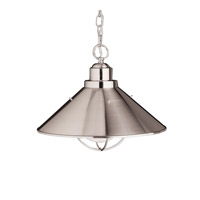 Seaside 1 Light 16 inch Brushed Nickel Pendant Ceiling Light