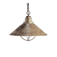 Kichler Lighting Seaside 1 Light Pendant in Olde Brick 2713OB