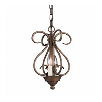 Kichler Lighting Norwich 2 Light Foyer Chain Hung in Tannery Bronze 2800TZ