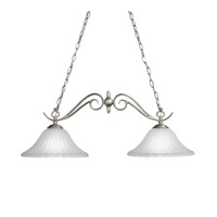 Kichler 2929NI Willowmore 2 Light 34 inch Brushed Nickel Island Light Ceiling Light