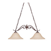 Kichler 2929TZ Willowmore 2 Light 34 inch Tannery Bronze Island Light Ceiling Light