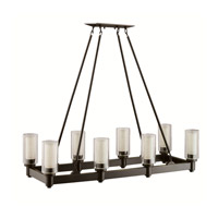 Kichler 2943OZ Circolo 8 Light 15 inch Olde Bronze Chandelier Ceiling Light