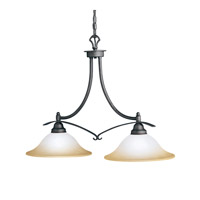 Kichler Lighting Pomeroy 2 Light Island Light in Distressed Black 2944DBK photo thumbnail