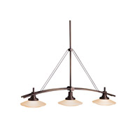 Kichler 2955OZ Structures 3 Light 37 inch Olde Bronze Island Light Ceiling Light
