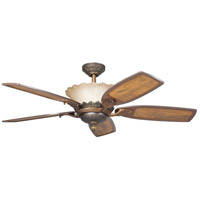 Kichler 300000OLZ Golden Iridescence Oiled Bronze with Distressed Oak Blades Fan photo thumbnail