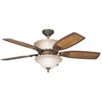 Kichler 300000OLZ Golden Iridescence Oiled Bronze with Distressed Oak Blades Fan alternative photo thumbnail