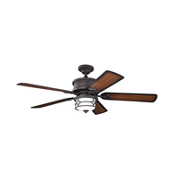 Kichler 300001DBK Chicago 52 inch Distressed Black with Walnut MS-97503 Blades Fan