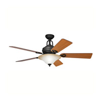 Kichler Lighting Meredith 3 Light Fan in Distressed Black 300004DBK