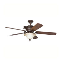 Kichler 300006CZ Wilton 54 inch Carre Bronze Fan