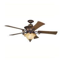 Kichler Lighting Rochelle 3 Light Fan in Carre Bronze 300007CZ photo thumbnail