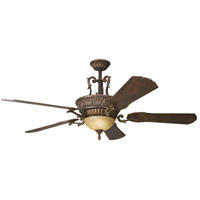 Kichler 300008BKZ Kimberley 60 inch Berkshire Bronze with Dark Cherry Blades Fan photo thumbnail