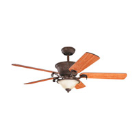 Kichler High Country Fan in Tannery Bronze W/ Gold Accent 300010TZG