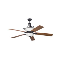 Kichler Lighting Olympia 6 Light Fan in Distressed Black 300011DBK