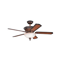 Kichler 300012MDW Larissa 52 inch Mediterranean Walnut with Walnut MS-5036 Blades Fan