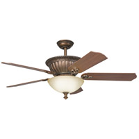 Kichler 300012TZG Larissa 52 inch Tannery Bronze w/ Gold Accent Walnut Fan