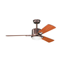 Kichler 300017OBB Celino Oil Brushed Bronze with Walnut Blades Fan photo thumbnail