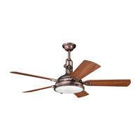 Hatteras Bay 56 inch Oil Brushed Bronze with Walnut Blades Fan