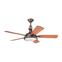 Kichler 300018OBB Hatteras Bay Oil Brushed Bronze with Walnut Blades Fan alternative photo thumbnail