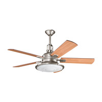 Kittery Point Antique Pewter with Light Cherry Blades Fan