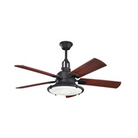 Kichler Harbour Walk Patio Fan in Distressed Black 300020DBK