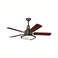 Kichler 300020OZ Kittery Point Olde Bronze with Walnut Blades Fan