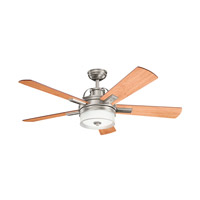 Kichler 300024AP Lacey II 52 inch Antique Pewter with CHERRY/WTHRD WHT WLNT Blades Ceiling Fan photo thumbnail